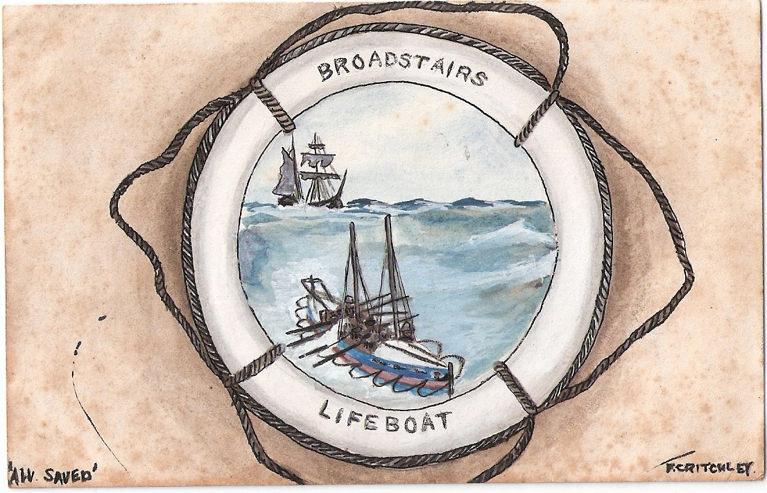 Broadstairs Lifeboat Watercolour 1905