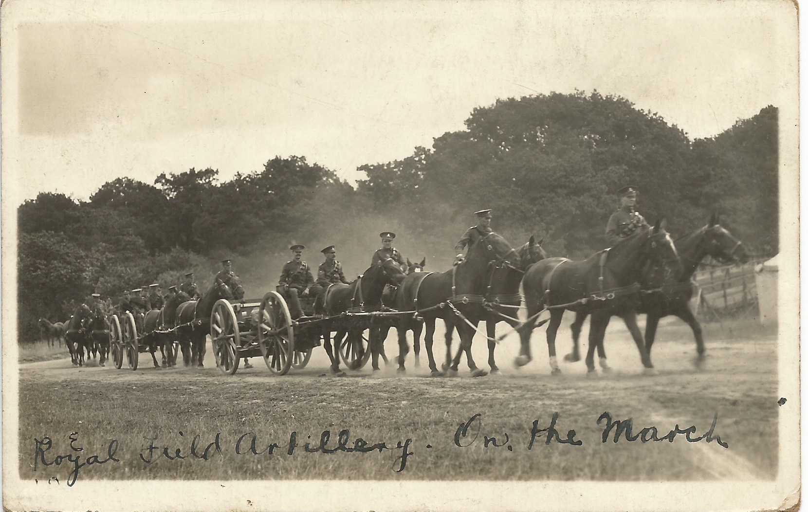 Royal Field Artillery - On the March 1914